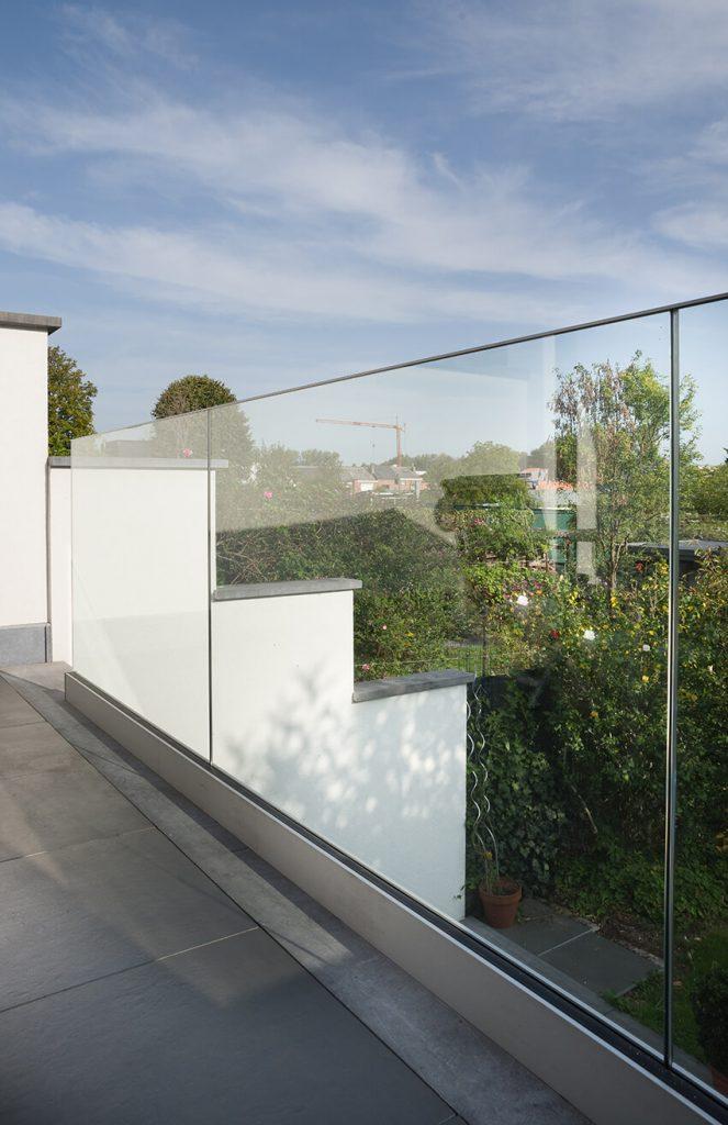 vrijstaand glas balustrade
