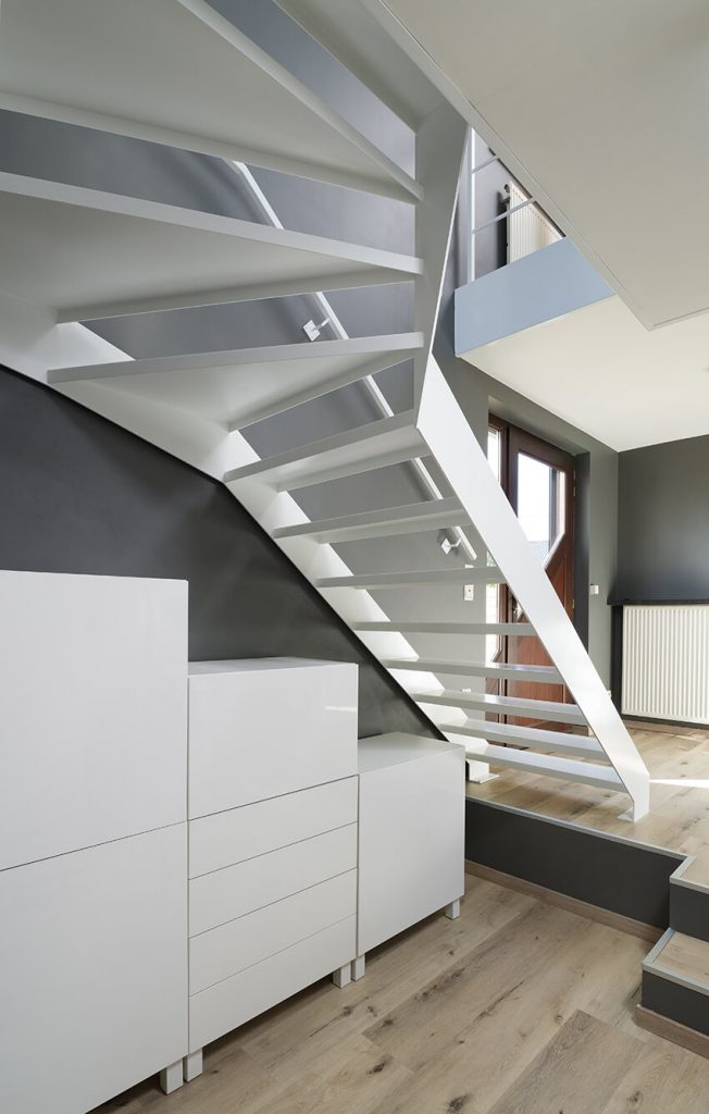 kwartslag trappen